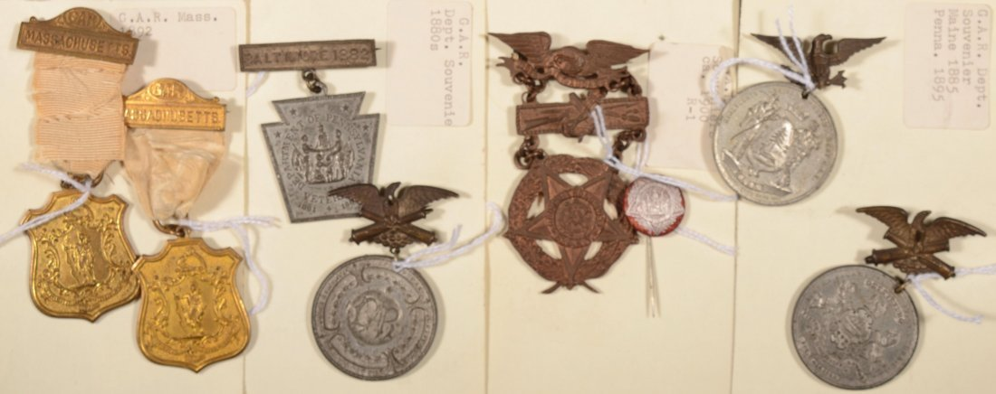 3: Lot of (7) GAR state Encampment medals dated 1882 to