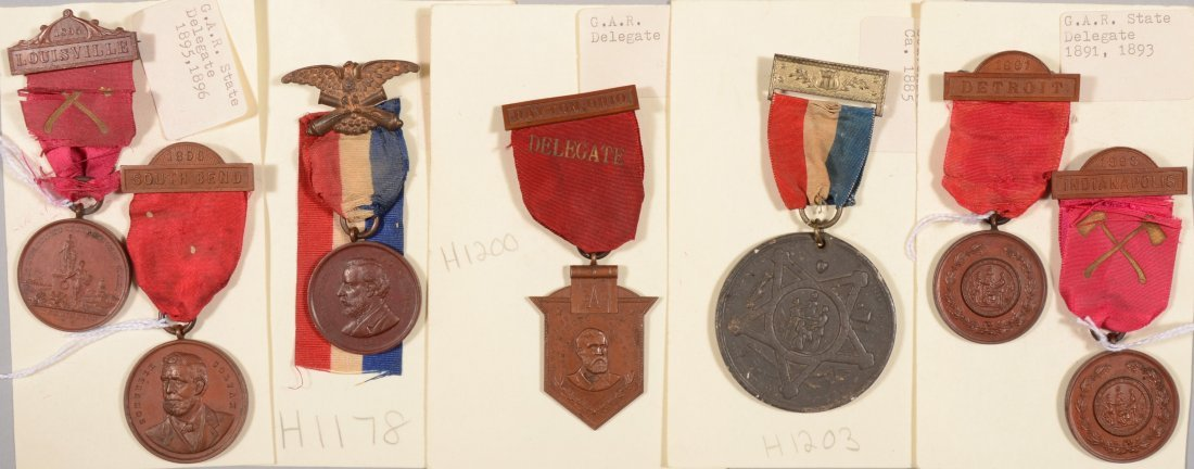 6: Lot of (7) GAR medals incl State Delegates dated 188