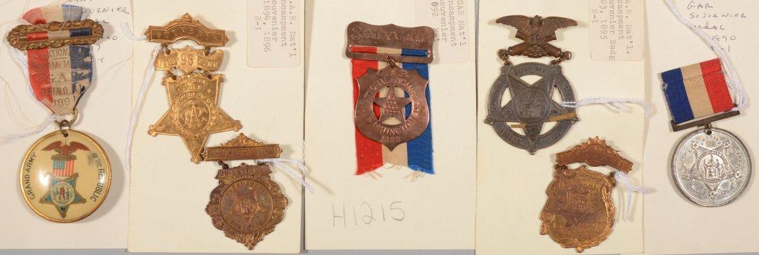 7: Lot of (7) GAR National Encampment medals dated 1890