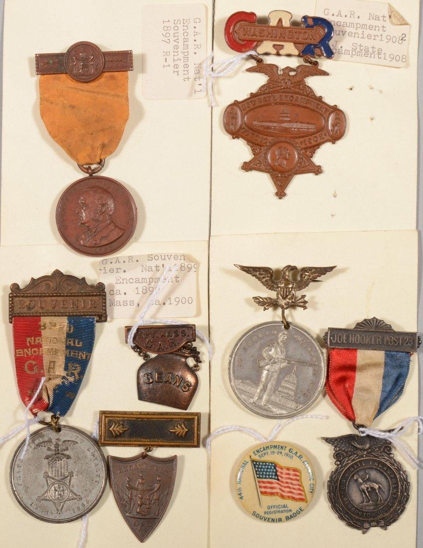 8: Lot of (7) GAR National Encampment medals dated 1897