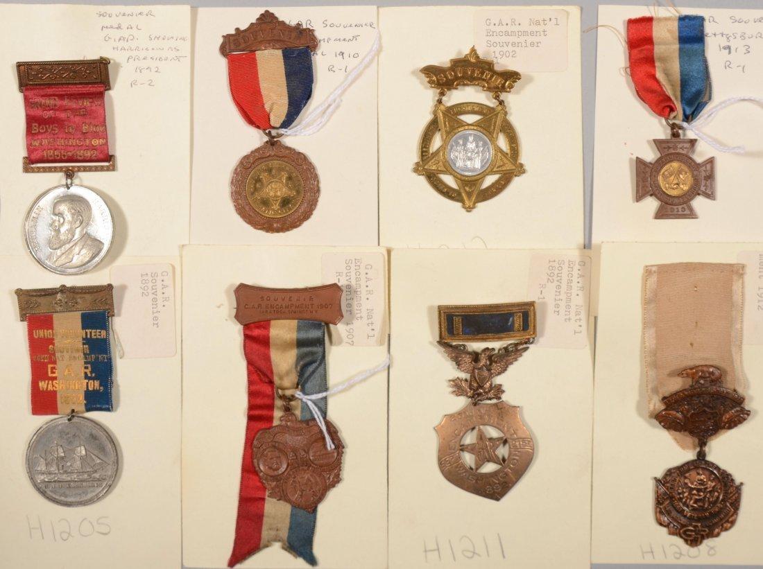 9: Lot of (8) GAR medals incl (6) National Encampment d