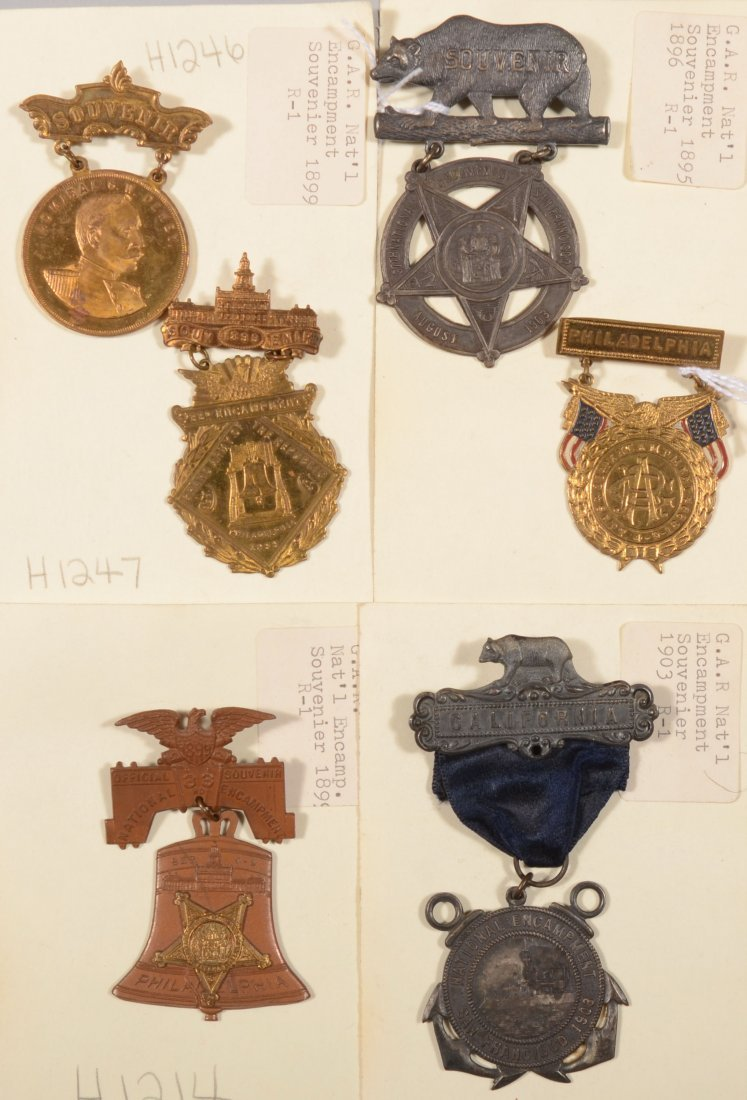 10: Lot of (6) GAR medals dated 1899 to 1903.