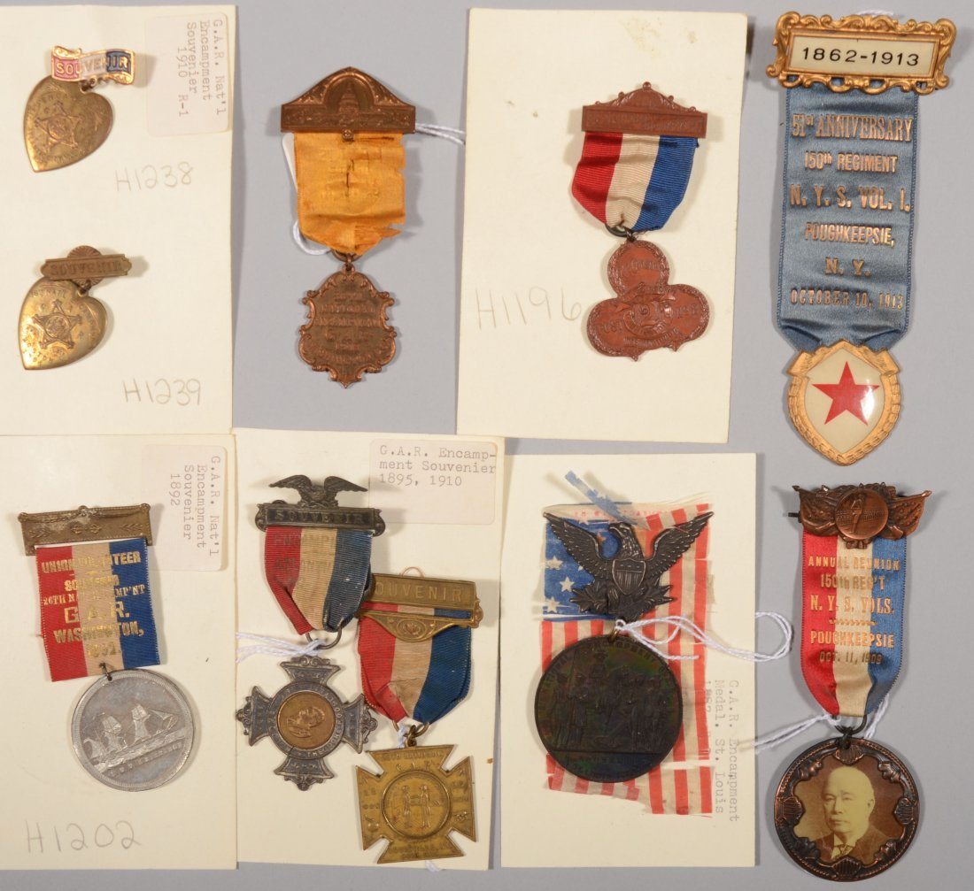 11: Lot of (9) GAR medals dated 1887 to 1913 including