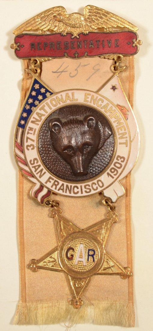 21: GAR 37th National Encampment Representative medal d