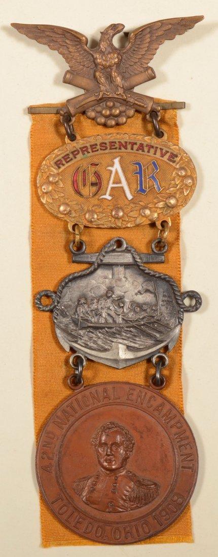 22: GAR 42nd National Encampment Representative medal d