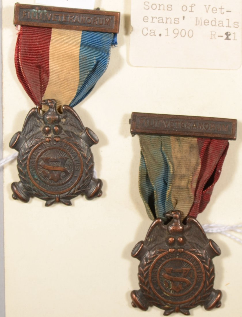49: Lot of (2) Sons of Veterans medals.