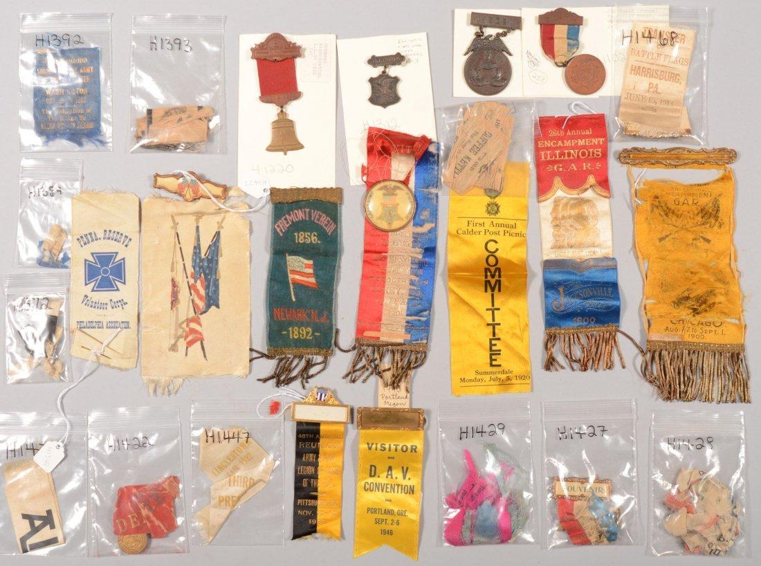 "51: Lot of veteran badges and ribbons incl. ""Old Guard"""