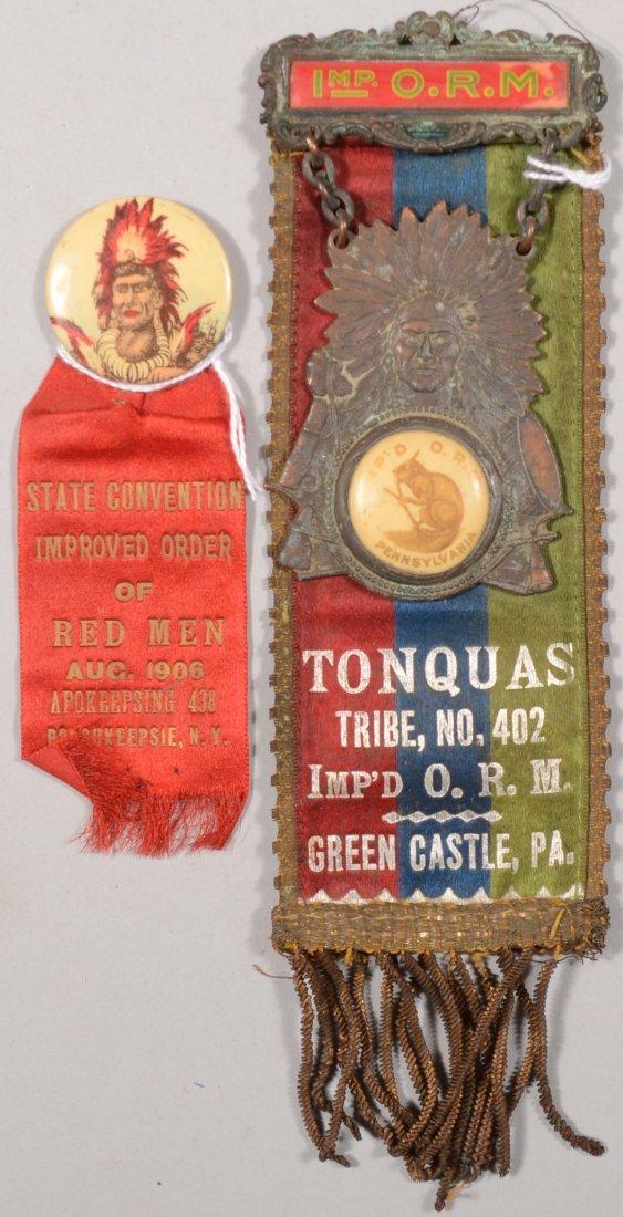 61: Improved Order of Red Men reversible dress ribbon