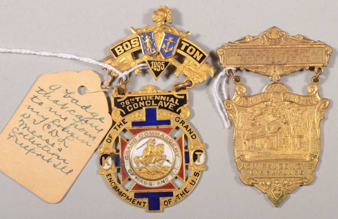 65: Lot of (2) K.T. Triennial Conclave  medals: the 26t