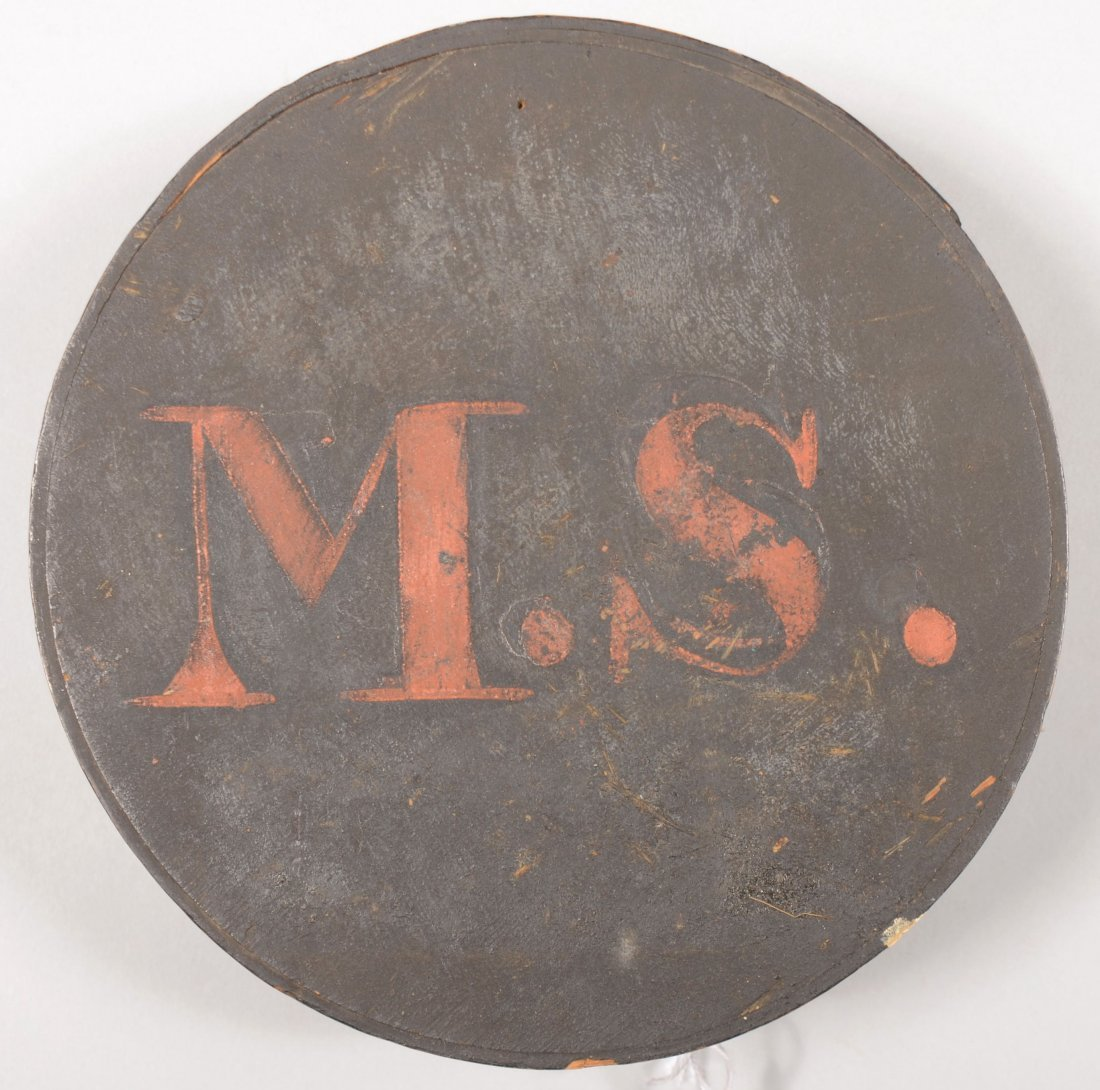 77: Massachusetts State marked wood canteen, cheese box