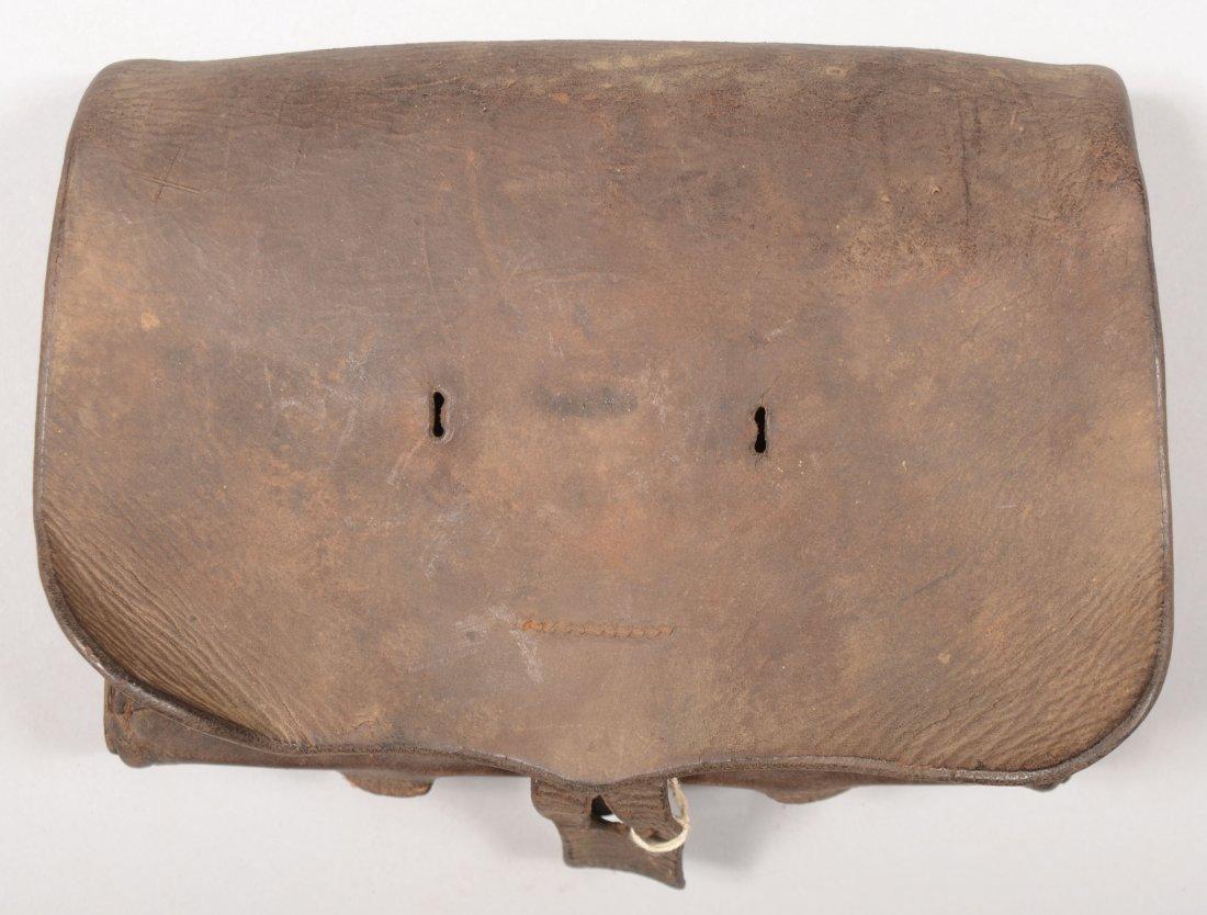 """82: U.S. Model 1855 musket cartridge box maker marked """""""