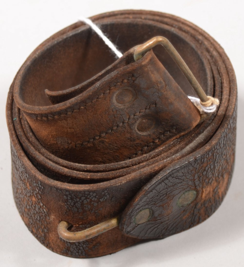 87: Mid-nineteenth century  black leather musket sling.