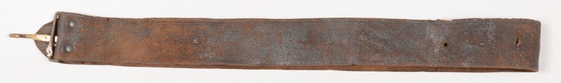 88: Mid-nineteenth century black leather musket sling.