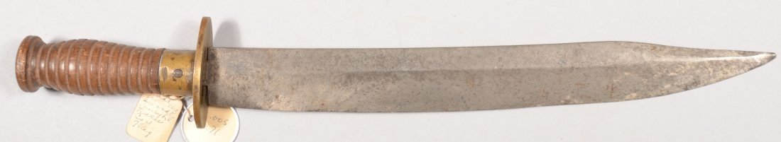 """94: Fighting knife made from a sword now 16"""" o/a having"""