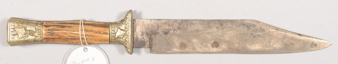 """95: Stag handled sheath knife marked """"Wilson Swift"""" on"""