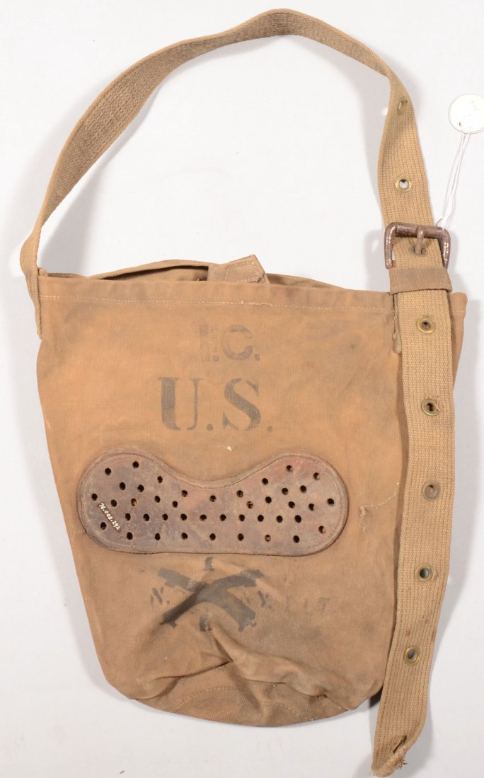 "162: Feed bag ink stamped ""I.C./U.S."" with 1st New York"