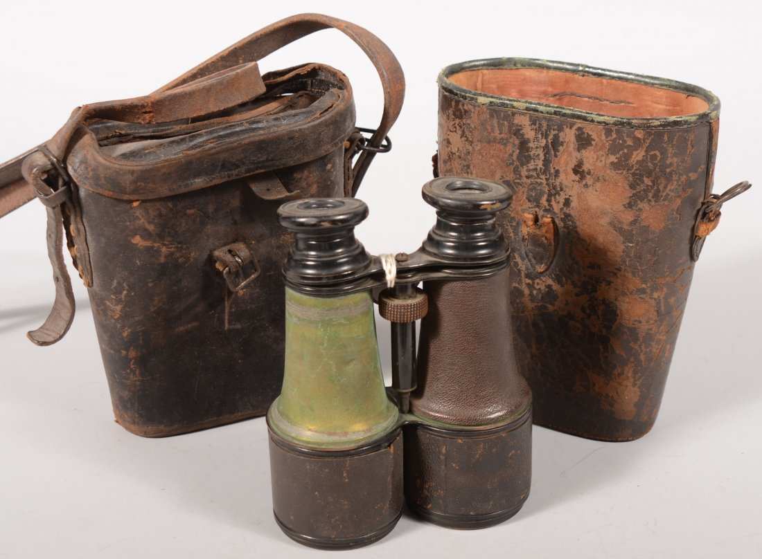 "163: Nineteenth century pair of binoculars marked ""Jume"