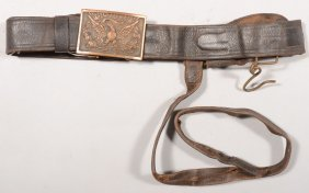 1875 - 1890 Era Leather Sword Belt With A M1851 Be
