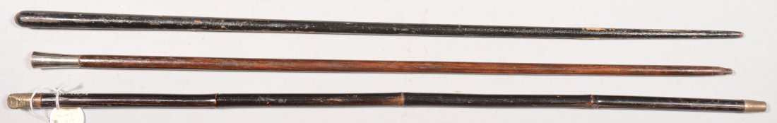 195: Lot of (3) swagger sticks.