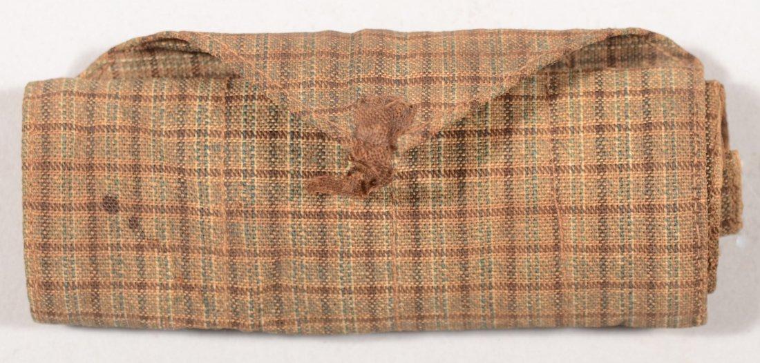 196: Civil war era housewife made of home spun material