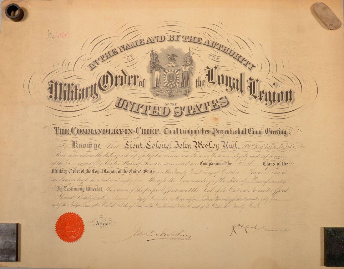 "202: Document October 21, 1885 ""receiving"" Lieut. Col."