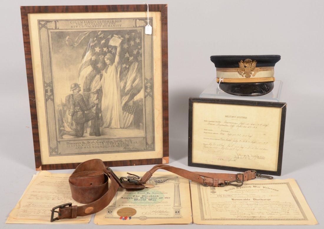 203: Capt. Francis A. Awl, 315th Infantry, visor hat, S