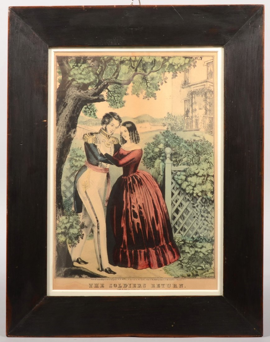 """204: Framed hand colored lithograph entitled """"The Soldi"""