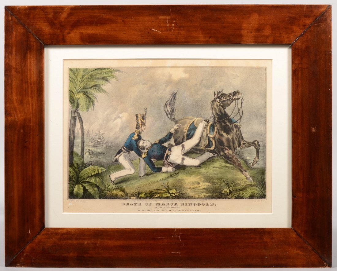 204A: Framed hand colored N. Currier lithograph entitle