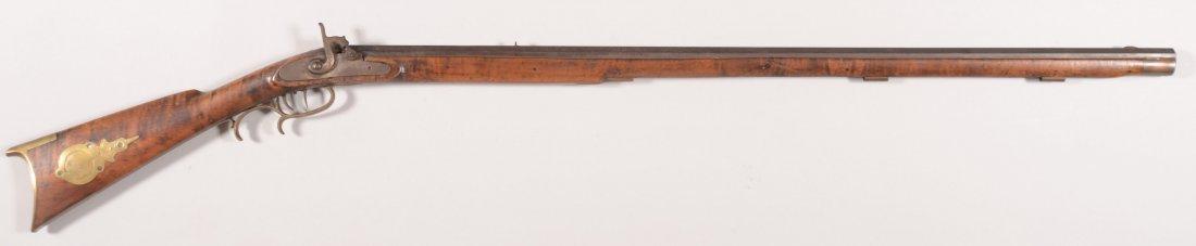 265: Signed full stock Kentucky rifle having a 38 calib