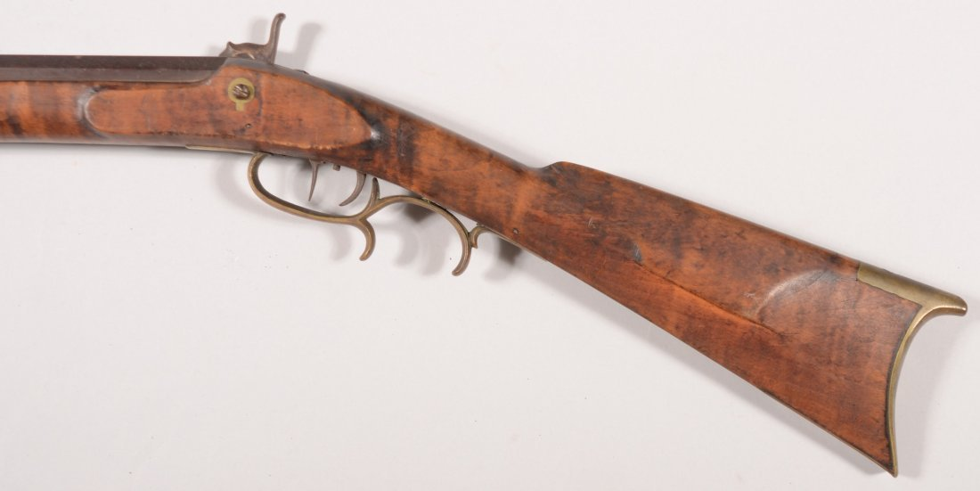 265: Signed full stock Kentucky rifle having a 38 calib - 3