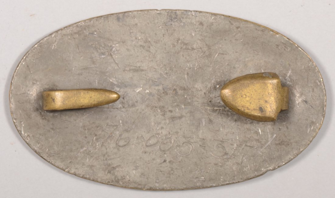 432: Small U.S. Oval Waist Belt Plate, Regulation 1839  - 2