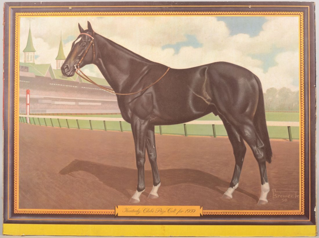 "8: Color Lithographic Print of ""Kentucky Club's Prize C"