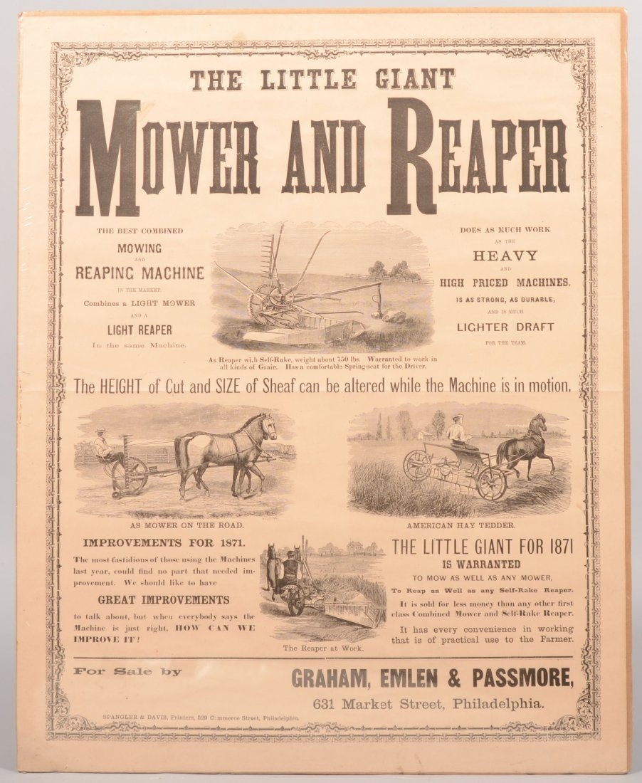 13: The Little Giant Mower and Reaper Advertising Poste