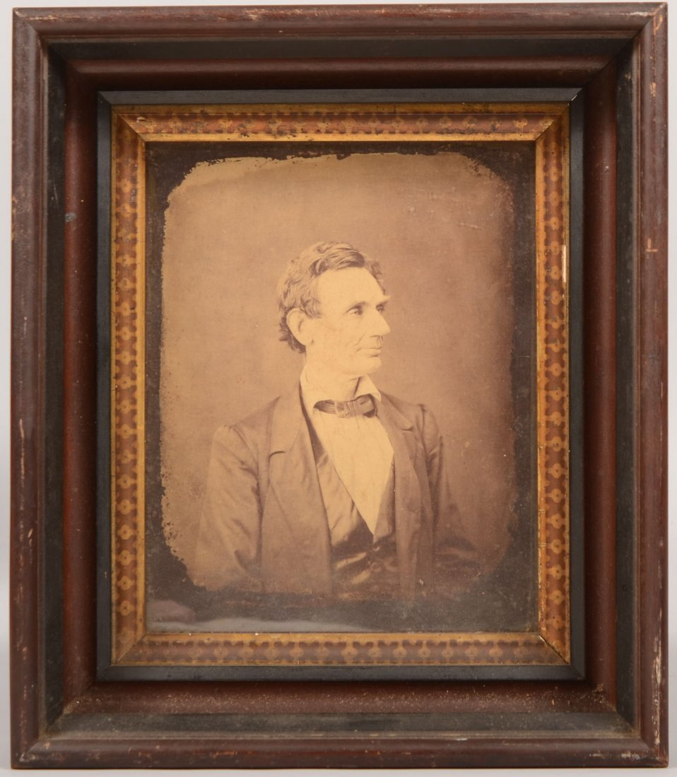 19: Early Photographic Print of a Beardless Lincoln. Im