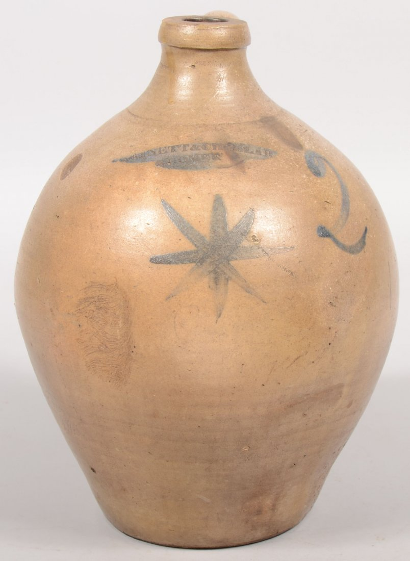"92: Ovoid Shaped Stoneware Jug. Stamped at neck: ""Benne"