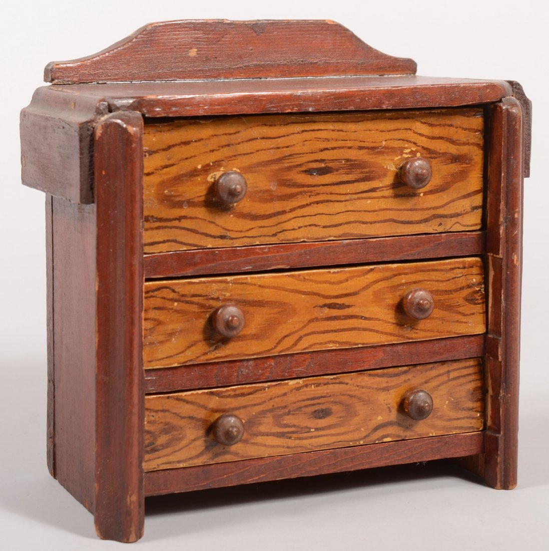 111: Late 19th/early 20th Century Softwood Miniature Ch