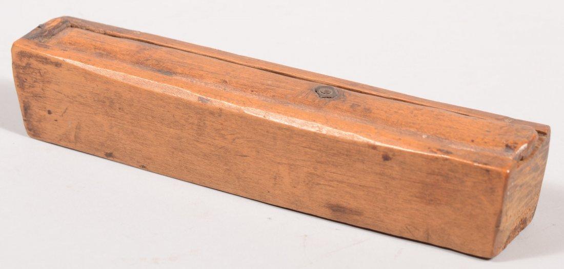 113: Early 19th Century Walnut Slide-lid Pencil Box. On