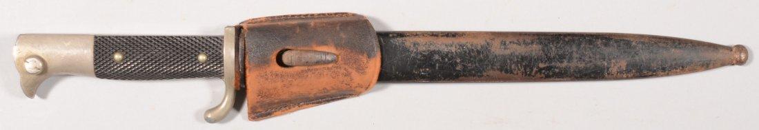 341: German M1930 dress bayonet with scabbard.