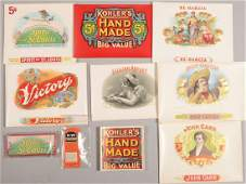 803 Assorted Unused Cigar Box Labeling Brands include
