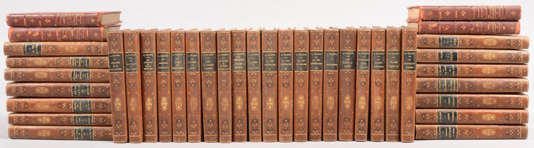 805: Thirty Four Volume Leather Bound French Books. Art