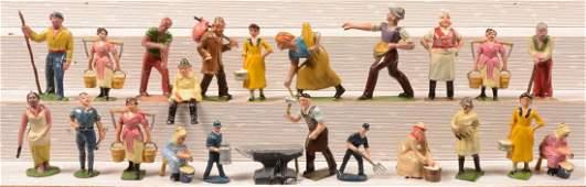 340 Twenty two Smaller Scale Painted Cast Metal Figure