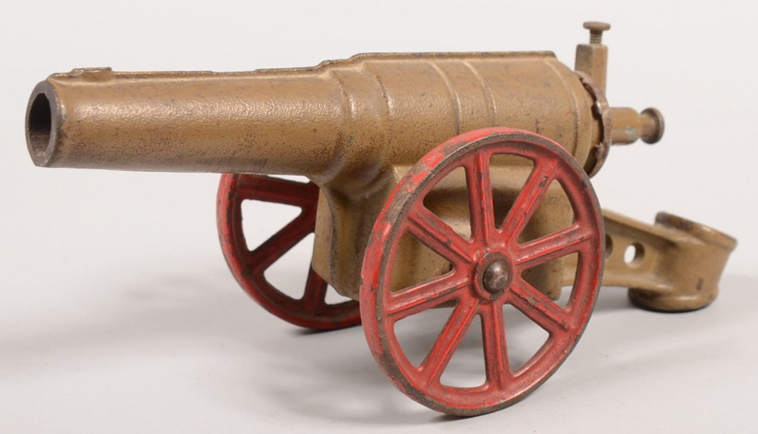 352: Cast Iron Carbide Toy Cannon. World War One style  - 2