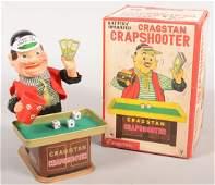 374 Animated Figural Toy Cragstan Crapshooter Batte
