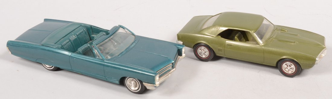 396: Two Pontiac Two Door Plastic Promotional Model Car