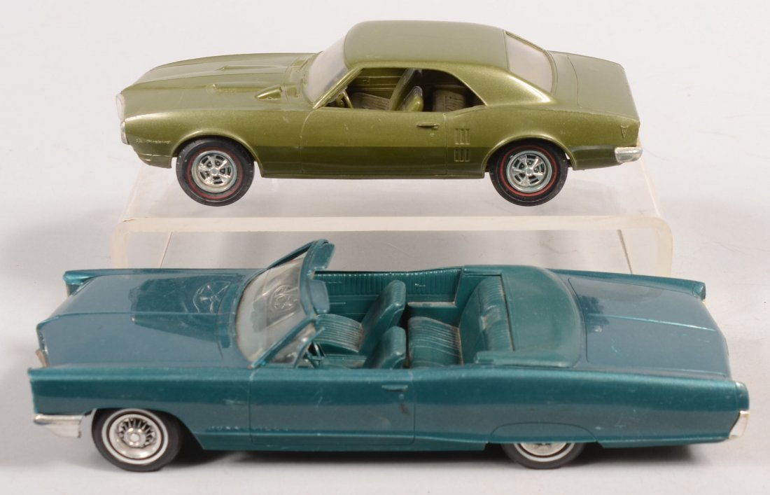 396: Two Pontiac Two Door Plastic Promotional Model Car - 2