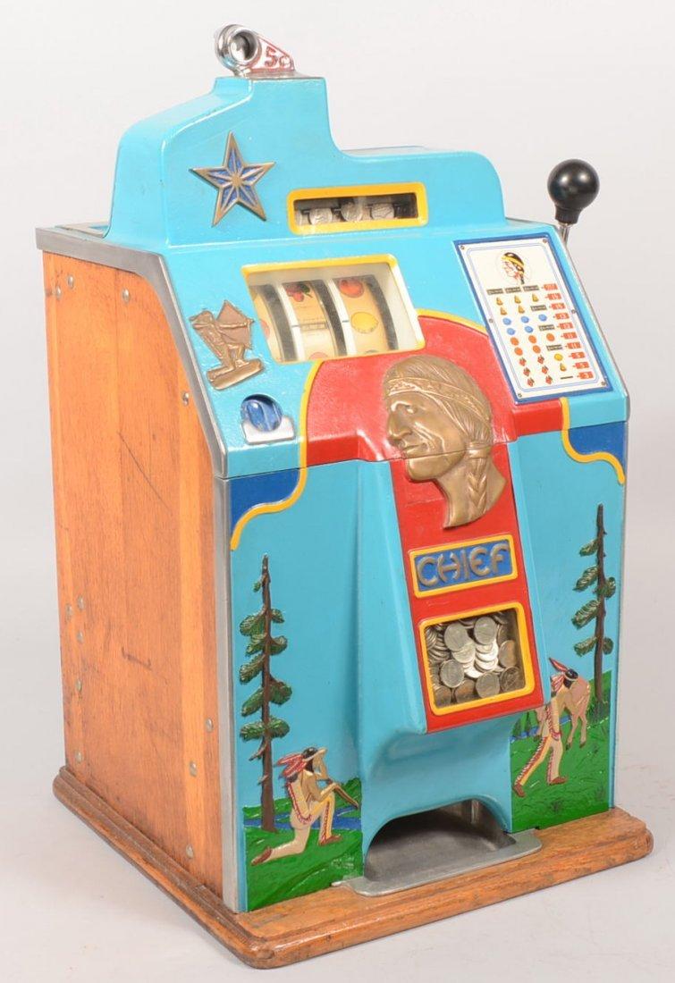 "401: Jennings 5 cent ""Chief""  Slot Machine."