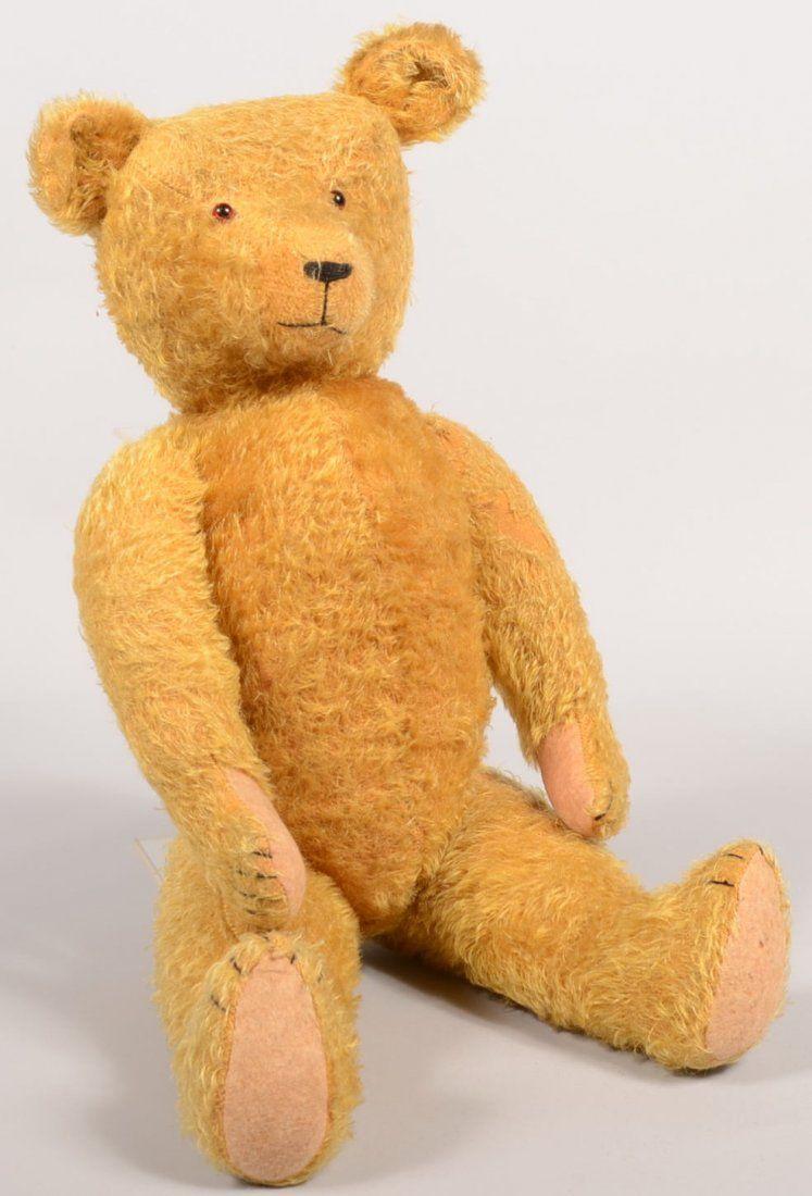 430: Large Steiff Type Teddy Bear in Honey Mohair. No t
