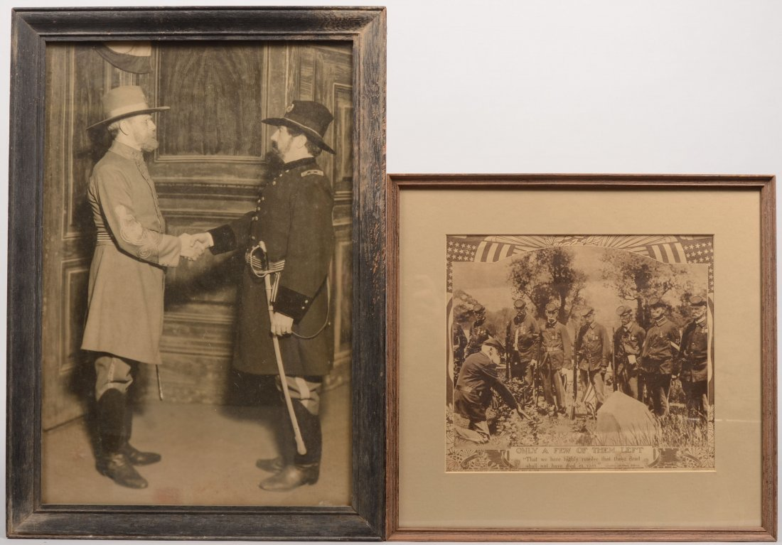 1: Two B&W Images of Civil War Veterens. A rotogravure