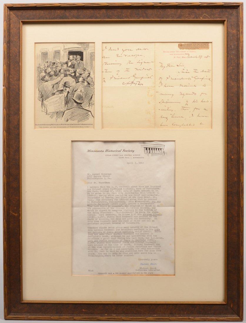 6: Framed Letter Hdqtrs. Dept. of Dakota, Mar., 1888. L
