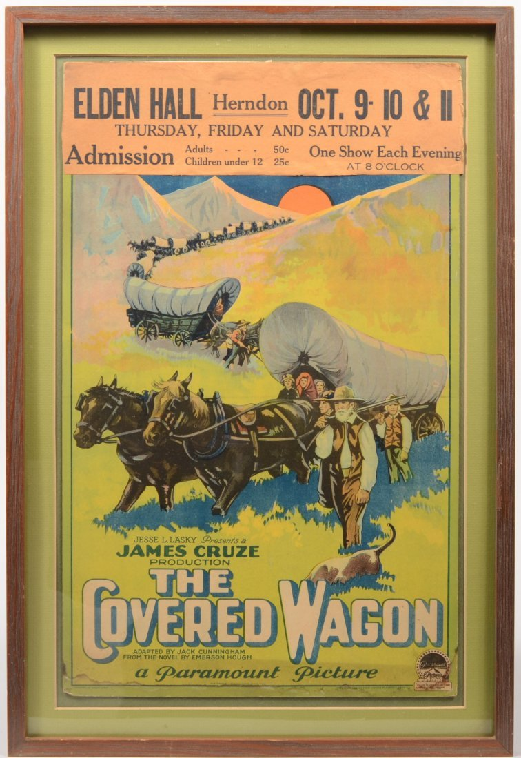 """7: Color Movie Card for """"The Covered Wagon"""" by Paramoun"""